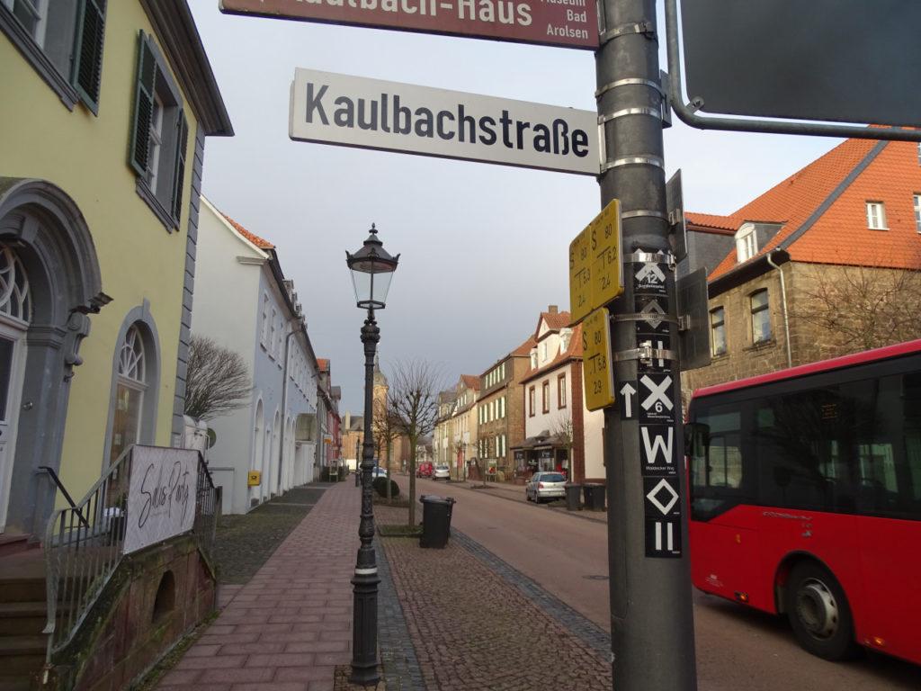 D 34454 Wanderknotenpunkt Bad Arolsen Pedestrial